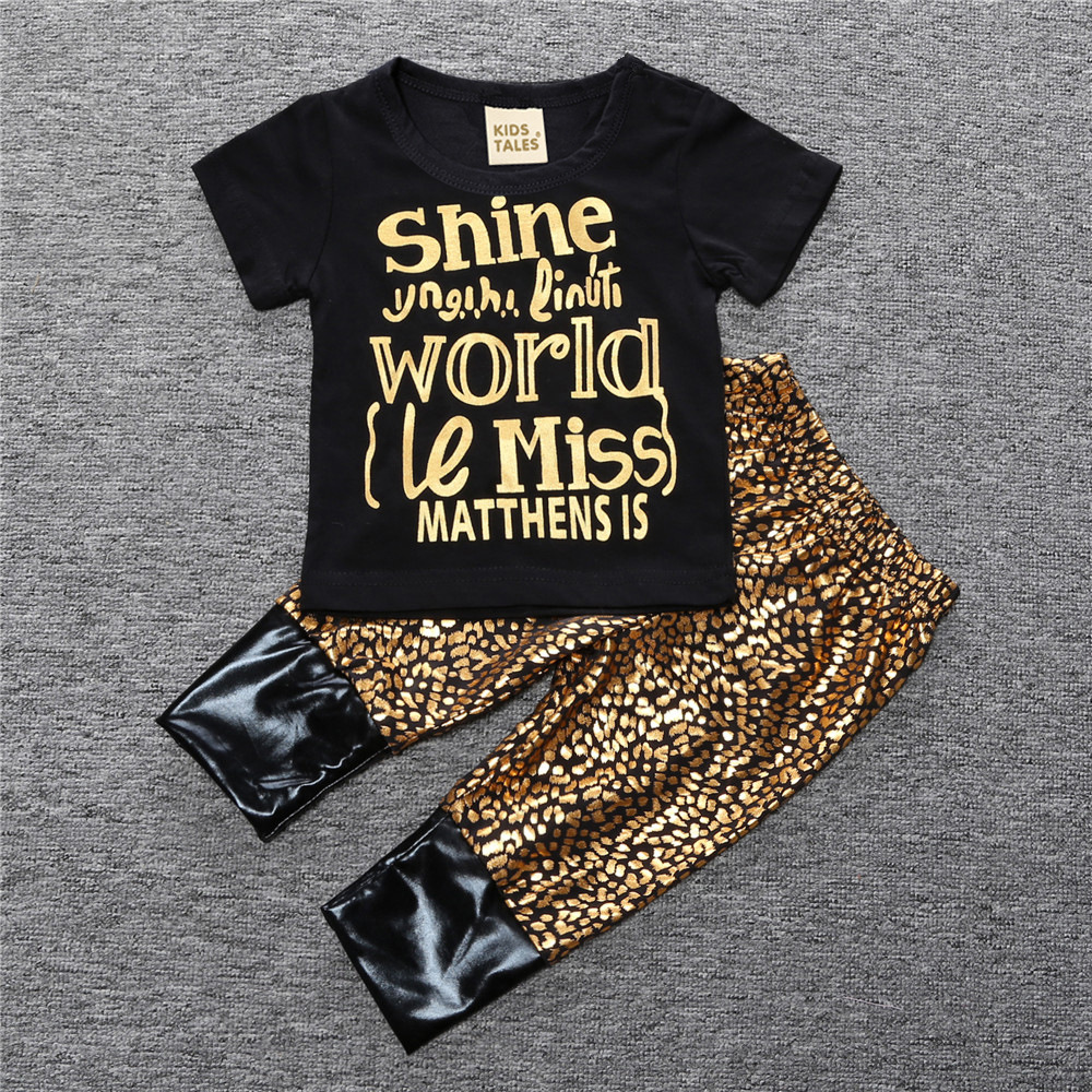 Zomer Outfits Baby Meisje Mode Kleding Items Golden Luxe Kleding Sets