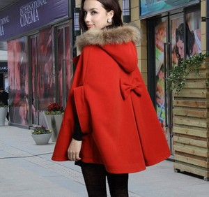 d60275h 2015 Autumn winter new korean wool coat Popular school fashion cloak coat Big size women's overcoat