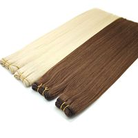 Wholesale human hair weft 100% Russian double drawn hair extensions human hair remy