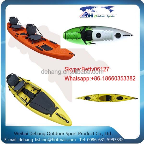 New Design Strong Plastic Tandem Fishing Kayaks For Sale For Water Sports Vt1
