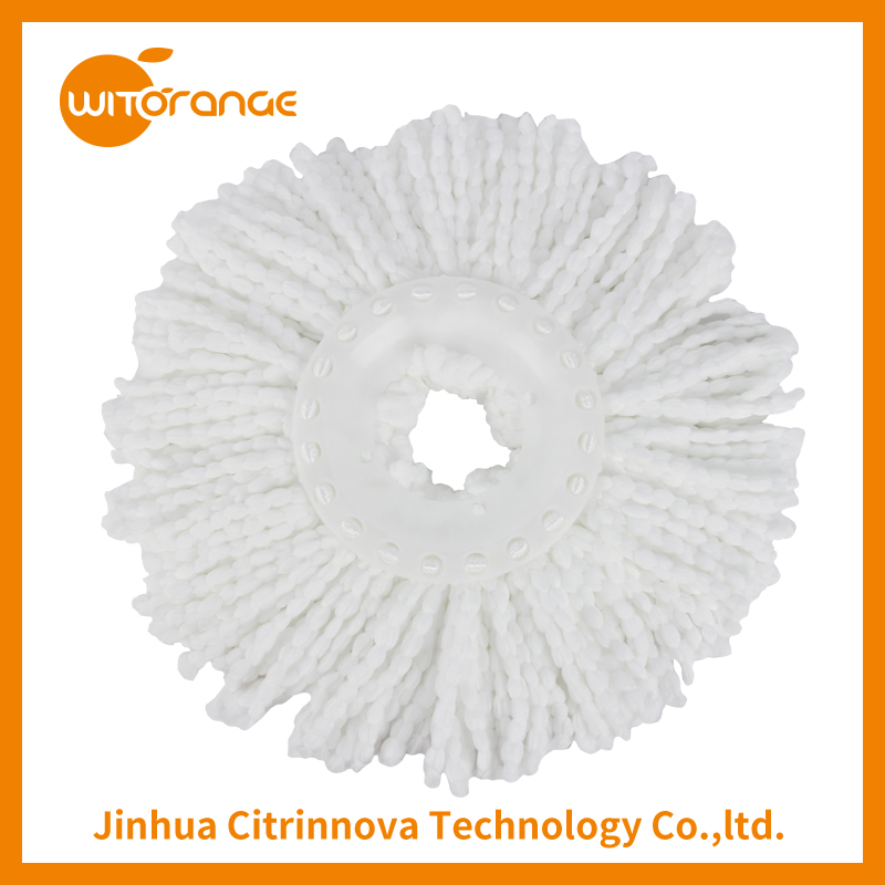 Witorange Microfiber Mop Head Material and Plastic Pole Material round mop pad