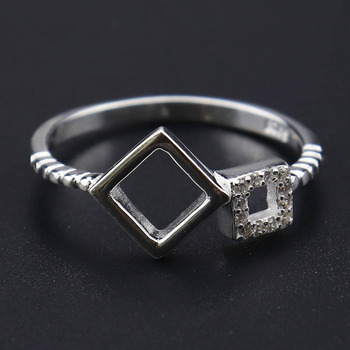 Popular silver wedding ring diamond ring women silver diamond ring