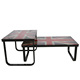 Free sample 2017 mirrored modern fancy bent glass top coffee table