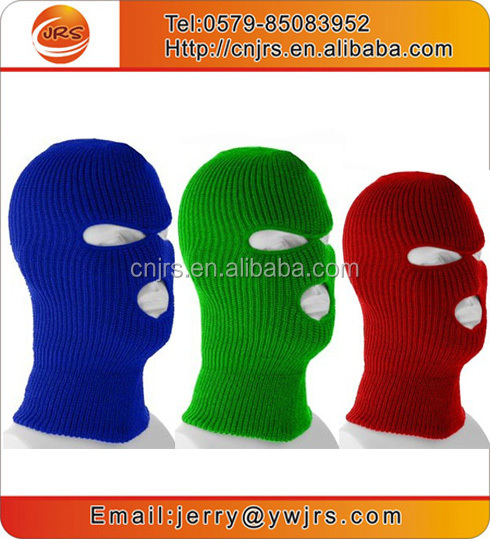 Wholesale full face ski mask 3 hole colored ski mask