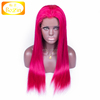 Virgin Brazilian Glueless Hot Pink Lace Front Wig Human Hair Wigs Straight Lace Front Human Hair Hot Pink Wig With Baby Hair