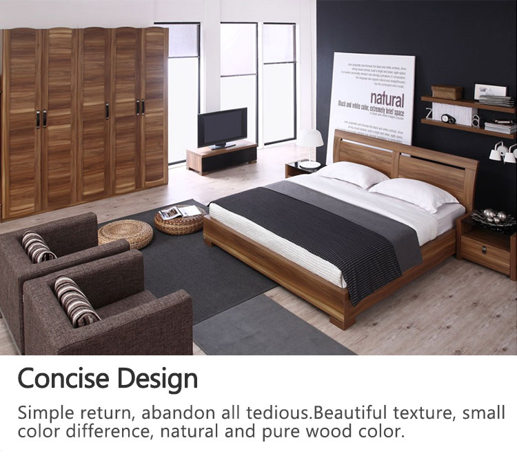 Hot sell white bedroom furniture sets for adults was made from E1 MDF board with high gloss spray printing for bedroom sets