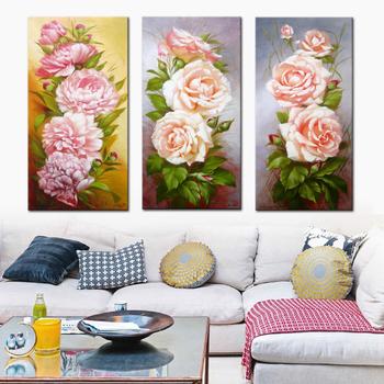 Moderne Belle Pivoine Fleur Pas Cher Toile Art Décoration Murale