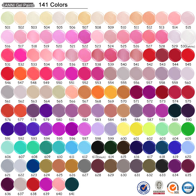 50618j canni new 141 colors names paint gel,summer color nail art