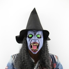 Scary Fang Hat Witch Latex Mask Fad Scared Halloween Headgear Festival Dance Party Horror Bloody Bane Masquerade Party Mask
