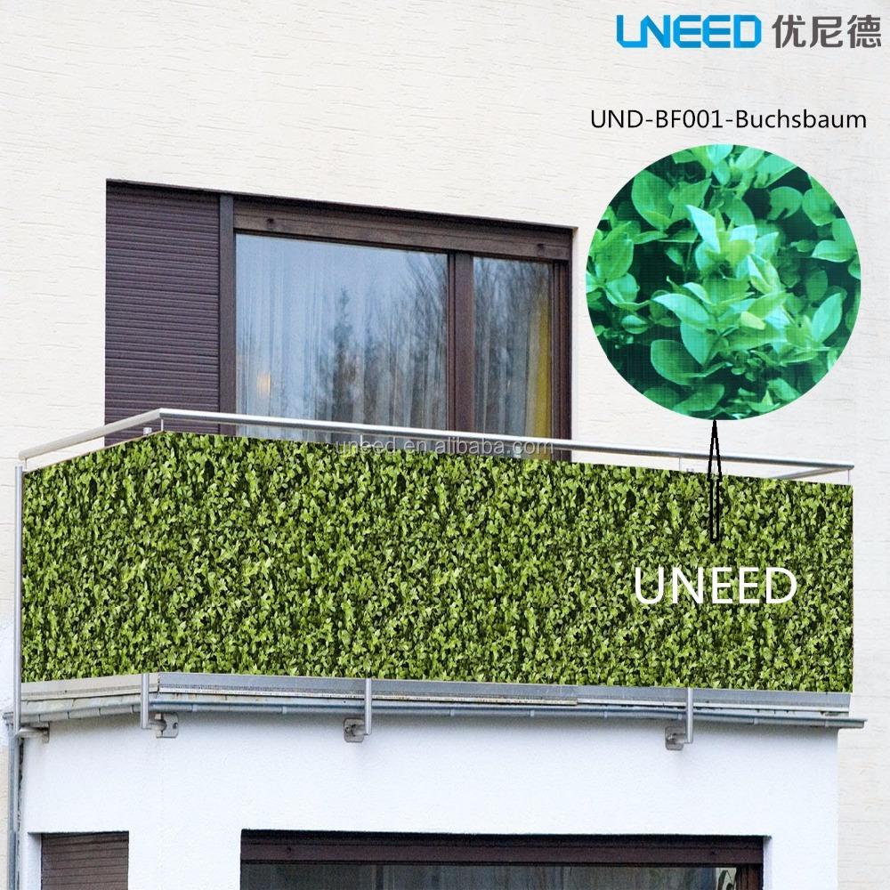 100% Uv Resistance Windproof Buchsbaum 0 75mx6m Pvc Balcony Fence