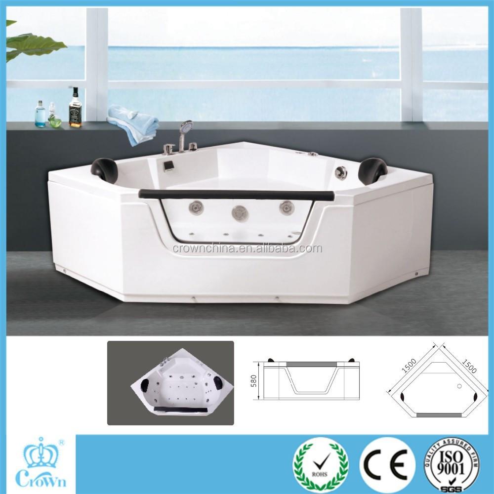 Drop-in Corner Jet Whirlpool Bathtub With Tv Mini Hot Tub Portable ...