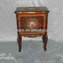 Colorful Painted Furniture - European Antique Style Curio Cabinet Antique Side Cabinet Corner Cabinet