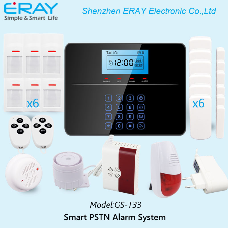 Wireless Home Security Safe House Alarm System GSM+PSTN Dual Network  Burglar Alarm System Android