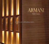 Z007 Bronze luxury wall covering armani brown marble