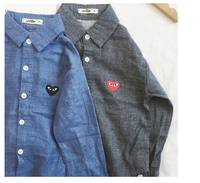 8131/factory direct sale boutique excellent Cotton linen Long-sleeved shirt for boys and girls
