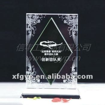 Eched and Clear Crystal Frame for Singer Medals Use