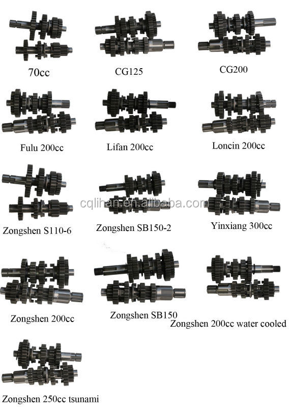 Good Quality Zongshen 200cc Parts For Main And Counter Shaft - Buy Zongshen  200cc Parts,Zongshen 200cc Parts For Main Shaft,Zongshen 200cc Parts For