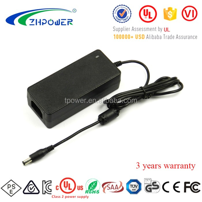 Industrial grade Efficiency VI 12Vdc 60W AC/DC Adapter 12V 5A power adaptor Class 2 With UL PSE KC FCC SAA CE Certification