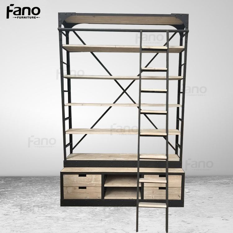 mobili rio antigo estante de metal de ferro industrial do. Black Bedroom Furniture Sets. Home Design Ideas