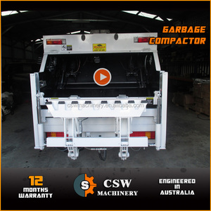 garbage compactor for lower building jobs 4 CBM volume fit 7-8 ton truck