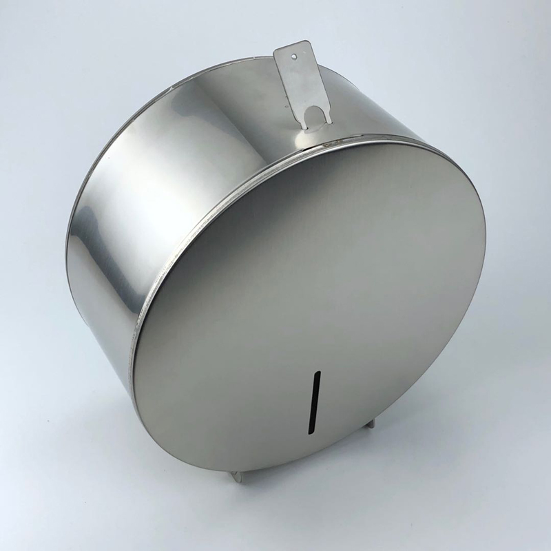 Public stainless steel 304 wall toilet roll holder paper dispenser
