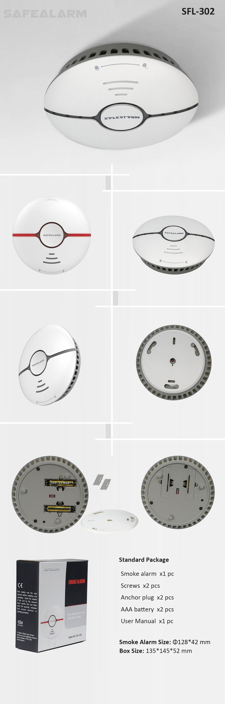 10 Year Lithium Battery Operated Usa Smoke Detector Manufacturers