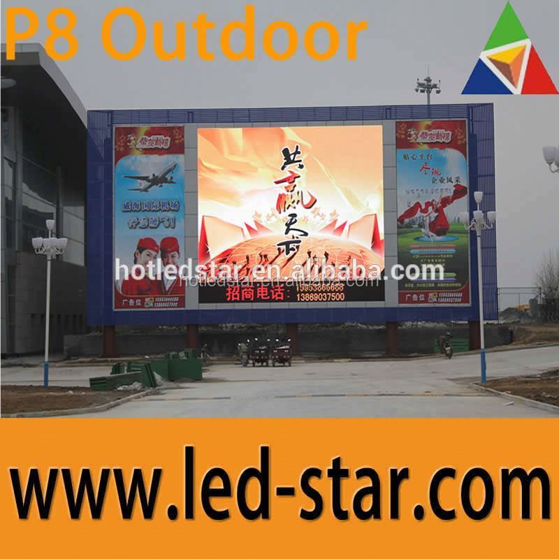 LEDSTAR fast shipment p8 outdoor advertising led display screen prices good refreshing export to Danmark