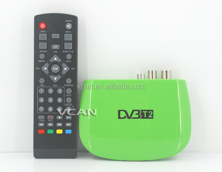 DVB-T2M8 Mini HD DVB-T2 Home H.264 iptv set top box MPEG-4 USB PVR