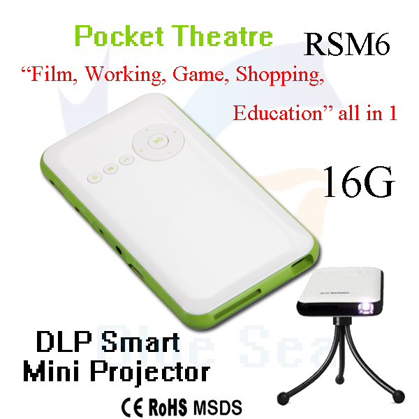 wholesale smallest projector hd 3d led <strong>android</strong> projector made in China RSM6