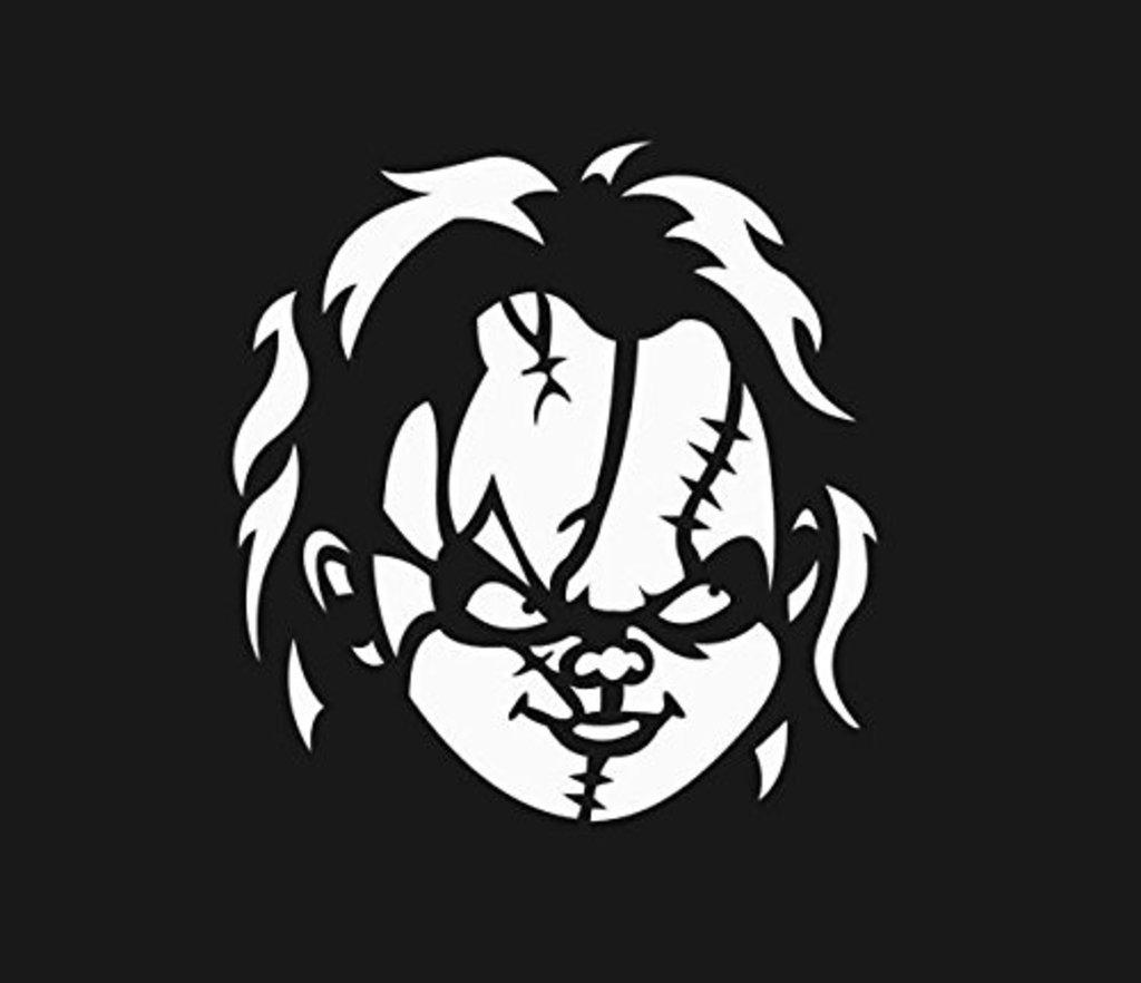 Buy Chucky Face Vinyl Cut Decal Sticker Horror Halloween