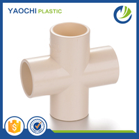 All sizes available pvc fittings cross tee plastic pipe fittings