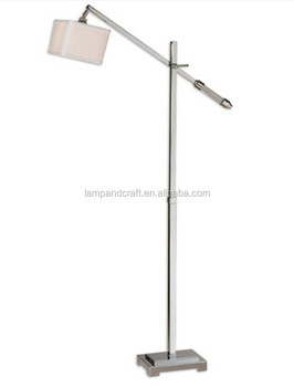 Polished Chrome Plated Metal Floor Standing Lamp With Crystal ...