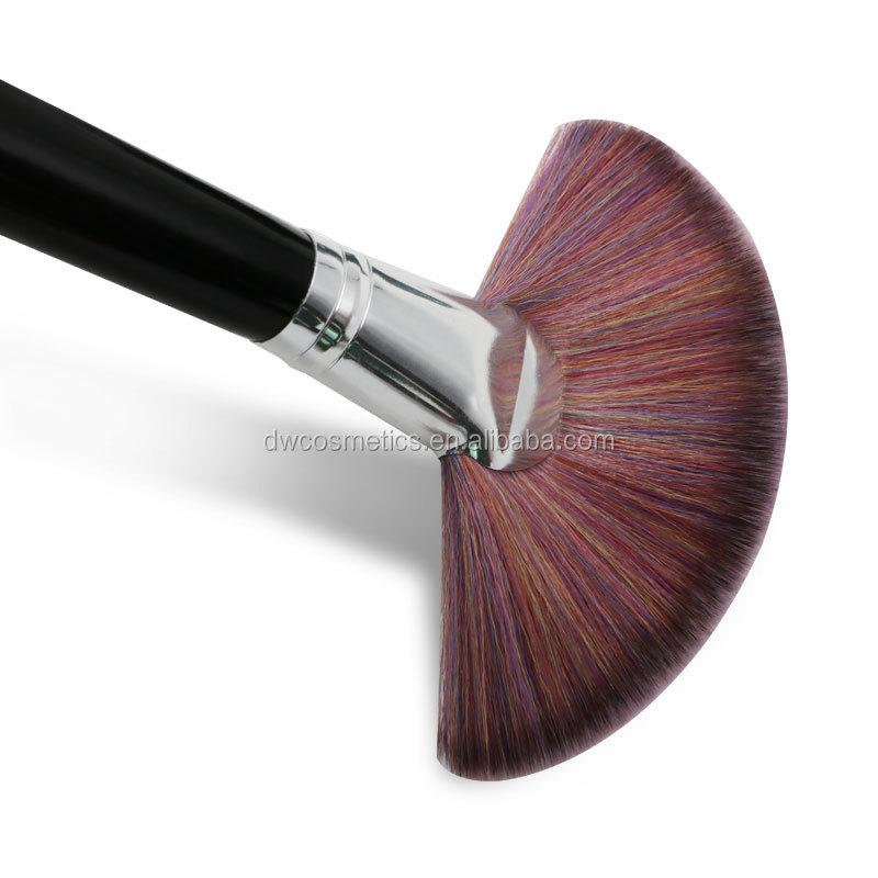 Personalizado feito sob encomenda 14 pcs pincéis de maquiagem de cabelo natural animal