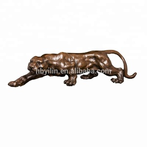 Small Size Bronze Panther Sculpture ornament for American metal art