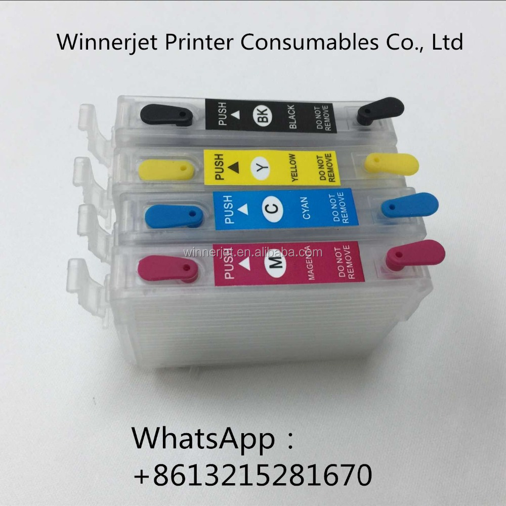 refillable ink cartridge for Epson T220 chips for WF-2530 WF-2540 WF-2630 WF-2650 WF-2660