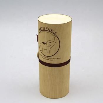 Wholesale custom decorative birch veneer cylinder  box
