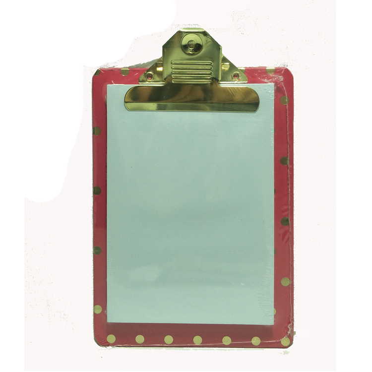 Audited factory direct promotion small mini clipboard with memo notepad
