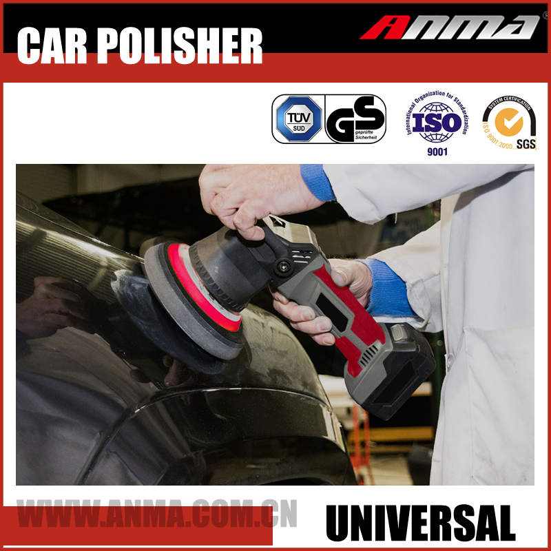 Dual action rechargeable wireless cordless 12v car polisher