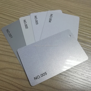 Silver base color pvc visiting card with uv code for manual id hand silver base color pvc visiting card with uv code for manual id hand operated colourmoves