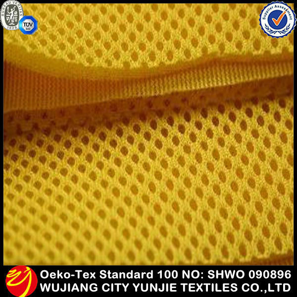 Thick polyester Sandwich cloth spacer foam padded mesh fabric