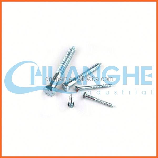 High quality! nickel plated double thread wood screw with stud