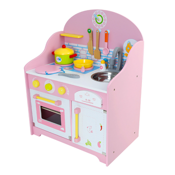 Anese Wooden Pretend Play Kitchen Home Cooking Table Set Children