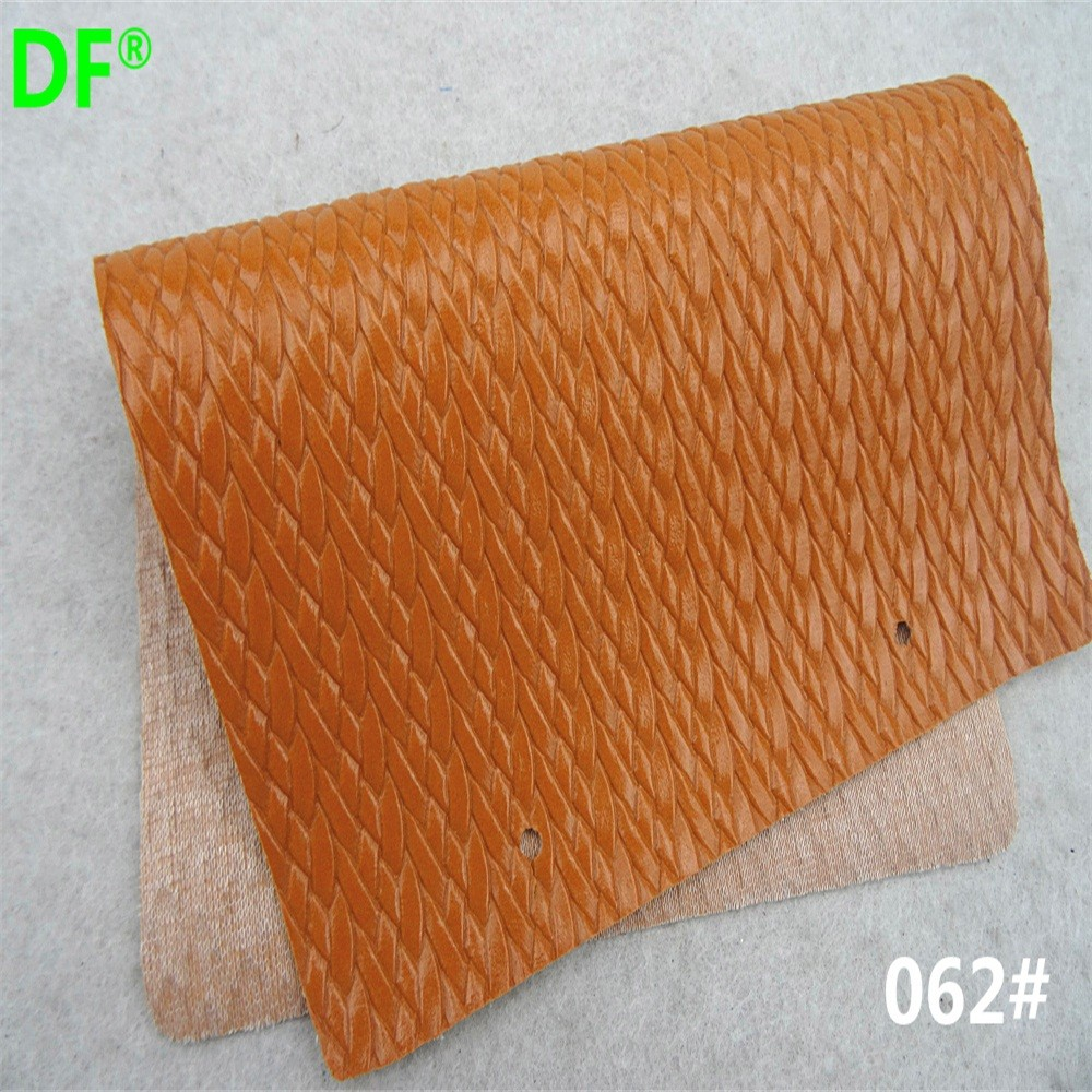 062# HOPSACKING pattern pvc leather for decoration