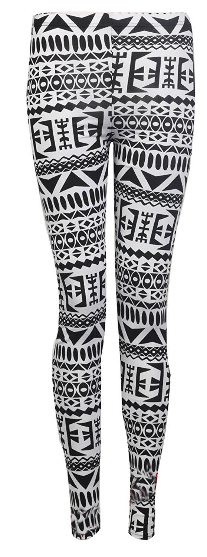 b333153a174cf Crazy Girls Womens Full Length Aztec Navajo Tribal Print Jersey Leggings