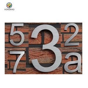 metal door number plates and letters