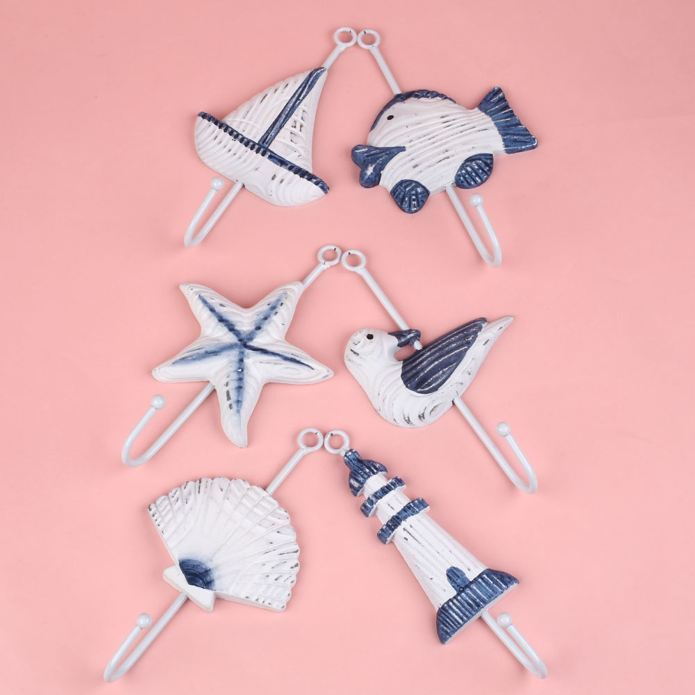 <font><b>Italian</b></font> Sea Sailing Boat Starfish <font><b>Home</b></font> <font><b>Decor</b></font> Bathroom Wall Hanger Hook