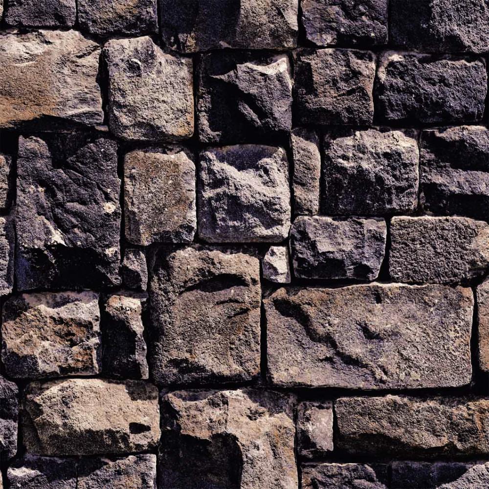 Vinyl for brick wall - 10m Brown Brick Wall Effect Vinyl Wallpaper For Hotel Ktv Cafe Bath Center