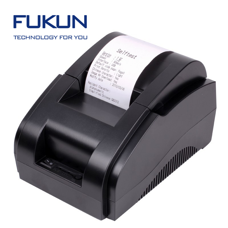 58mm Small Desktop Printer For Computer With USB / Lan / Lpt / Rs232 Interface