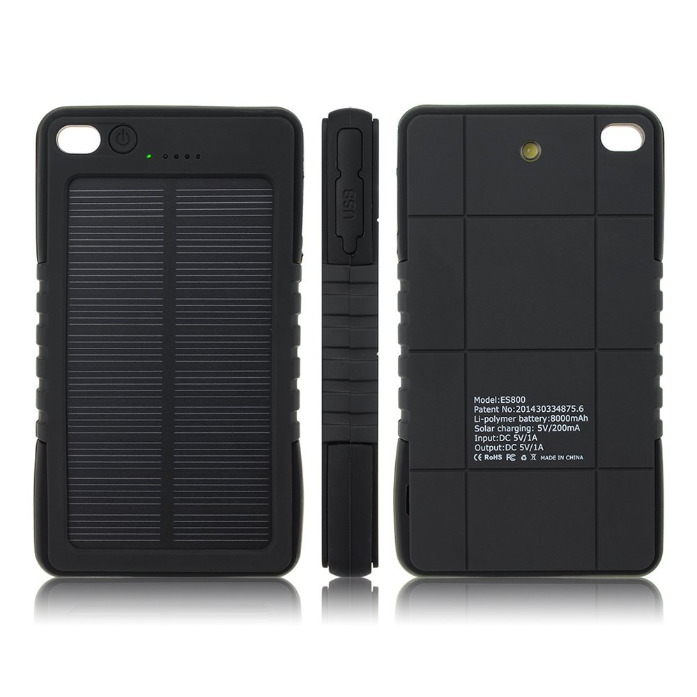 Waterproof UL Factory Portable Solar Power Bank Charger 5000Mah Solar Charger