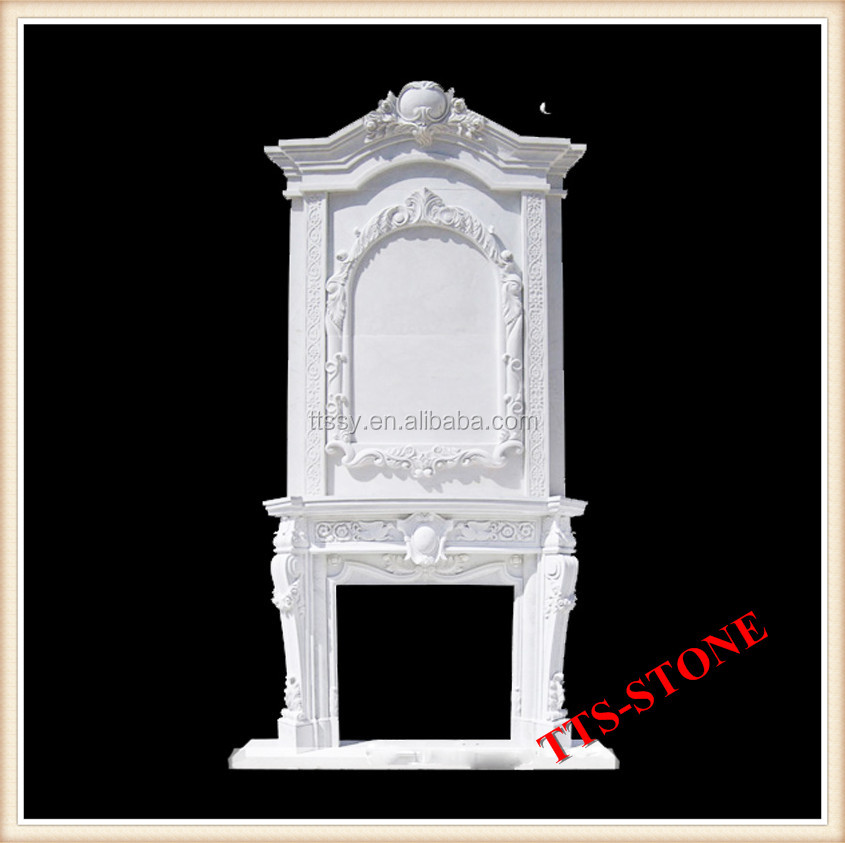White Double Deck Fireplace Mantel